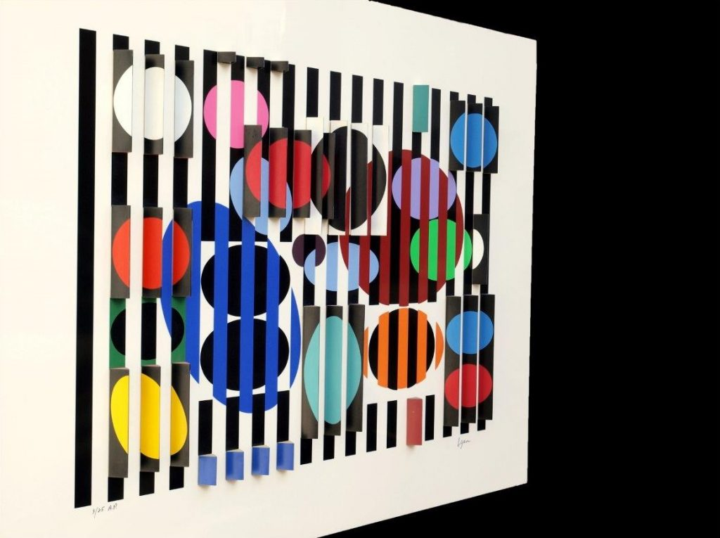 Yaacov Agam - 2+3=4 - left